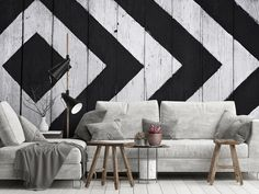 Black And White Wallpaper, Designer Wallpaper, Wallpapers, Contemporary, Rugs, Home Decor, Farmhouse Rugs, Decoration Home, Room Decor