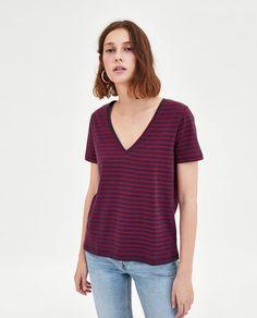 Image 2 of V-NECK T-SHIRT from Zara