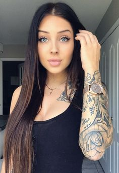 valerie cossette at DuckDuckGo Tattoo Girls, Girl Tattoos, Pretty Eyes, Beautiful Eyes, Simply Beautiful, Sexy Tattoos, Tattoos For Women, Beauty Art, Hair Beauty