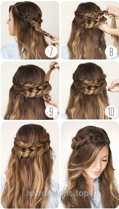 nice 9 Step By Step Hairstyles Perfect For School. Quick, Easy, Cute  and Simple…  http://www.hairdesigns.top/2017/07/23/nice-9-step-by-step-hairstyles-perfect-for-school-quick-easy-cute-and-simple/
