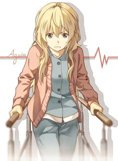 "Kaori. ""Dont worry, us violinists have more stanima than you think."" Your lie in april"