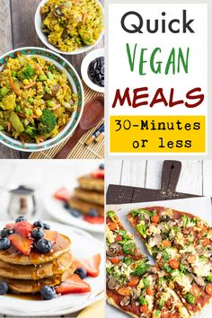 A common misconception is that preparing healthy plant-based meals requires a lot of time and effort spent in the kitchen, but the following lazy vegan recipes completely bust that myth! #easyveganrecipes #lazyveganrecipes #easywfpbmeals #easyplantbasedmeals #quickhealthymeals Quick Vegan Meals, Vegan Meal Prep, Vegan Dinner Recipes, Vegan Dinners, Vegan Recipes Easy, Whole Food Recipes, Diet Recipes, Vegetarian Recipes, Yummy Recipes