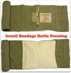 """Israeli Bandage: A Versatile Addition to Your First Aid Kit, a highly versatile piece of medical gear your family should learn to use. This """"battle"""" dressing can be used for a severe puncture, deep laceration or gunshot wound. It can act as a sling to support a limb, a wrap to bind a splint into place, a pressure dressing for certain types of head wounds, or to immobilize a broken jaw. If necessary, it can even be used as a tourniquet."""