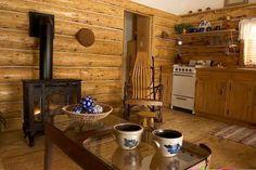 log cabin inside - Google Search