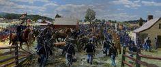 Gettysburg Chaos on The Emmitsburg Road Civil War