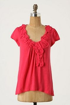 Pretty red shirt from Anthrolpologie