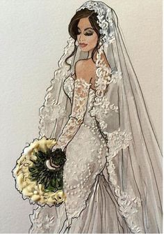 #Brides #Wedding  @karenorrillustration| Be Inspirational❥|Mz. Manerz: Being well dressed is a beautiful form of confidence, happiness & politeness