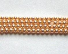 Clearance Sale -- 25 Swarovski crystal beads 6mm PEARL 5810 crystal beads PEACH