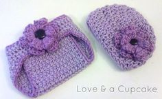 Crochet Baby Hat/Beanie and Diaper Cover Set by LoveNaCupcake, $18.00
