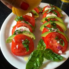 Food Impressions: Avocado Caprese Salad, skip the cheese!