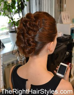 intricate twisted updo
