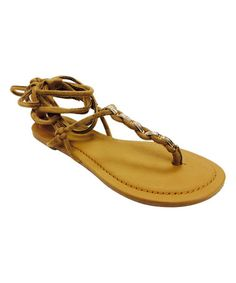 Another great find on #zulily! Camel Fashion Lace-Up Sandal #zulilyfinds