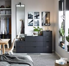 Smart solutions for selective shoppers Cosy Bedroom, Large Bedroom, Bedroom Decor, Bedroom Ideas, Attic Storage, Bedroom Storage, Ikea Hallway, Ikea Nordli, Modular Furniture