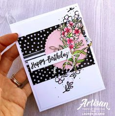 Crafty Little Peach: Stampin' Up! Hand Stamped Cards, Flower Patch, Beautiful Handmade Cards, Scrapbooking, Card Making Inspiration, Happy Birthday Cards, Stamping Up, Kids Cards, Flower Cards