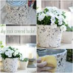 How To Make DIY Rock Covered Bucket