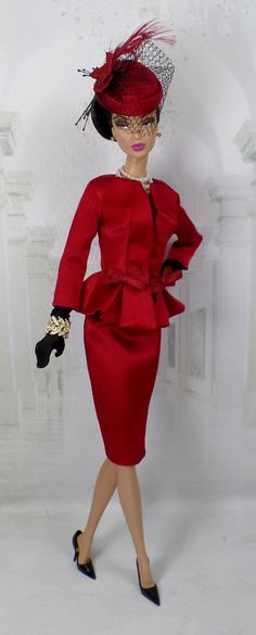 Red My Mind for Silkstone Barbie and Victoire Roux on Etsy