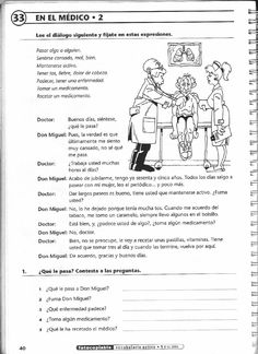 ISSUU - Vocabulario activo 1. Fichas con ejercicios fotocopiables (elemental - pre-intermedio) de Jean-François Borgniet High School Spanish, Spanish 1, Spanish Teacher, Spanish Classroom, Spanish Lessons, Teaching Spanish, Spanish Worksheets, Spanish Vocabulary, Spanish Activities