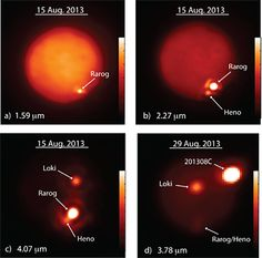 A hellacious two weeks on Jupiter's moon Io. Image by Imke de Pater and Katherine de Kleer, UC Berkeley.