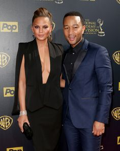 Chrissy Teigen and John Legend attend The 42nd Annual Daytime Emmy Awards at Warner Bros. Studios on April 26, 2015 in Burbank, California.