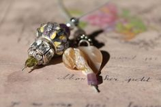 Mon Cher Shabby Chic Bookmark by EarmarksandBookmarks on Etsy, $25.00