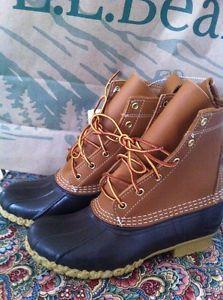"New! LL Bean Men's 8"" Boot Size 10 Medium"