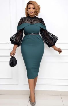 Classy Work Outfits, Classy Dress, Chic Outfits, Short African Dresses, Latest African Fashion Dresses, African Lace, Stylish Dresses, Elegant Dresses, Lace Dress Styles