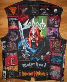 Heavy Metal Fashion, Heavy Metal Rock, Dark Fashion, Black Metal, Punk Jackets, Cool Jackets, Denim Jackets, Metal T Shirts, Old Shirts