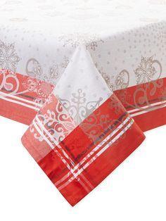 Snowflakes Tablecloth by Garnier-Thiebaut