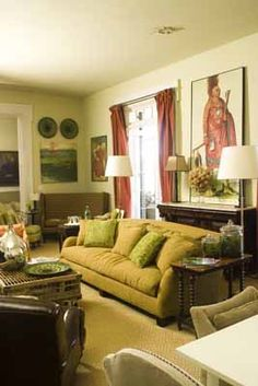 A living room at P. Allen Smith's Garden Home. Visit www.pallensmith.com for more photos, recipes, and tips.