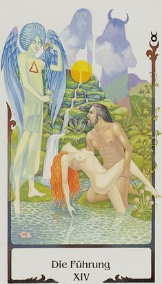 The Guide (Temperance) - Tarot of the Old Path