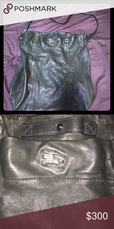 Huge Burberry Carrying/Hobo Bag NWOT Beautiful leather bag. The leather is ultra soft and amazing quality. Could be used as a big purse or a small type of backpack/baby bag.. Etc. This piece is flawless. Burberry Bags Shoulder Bags