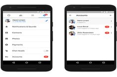 Android FB Messenger supports multiple accounts, keeps them private