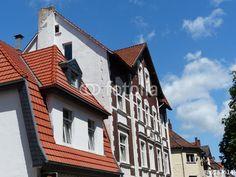 Schöne alte Wohnhäuser in der Meller Straße in Bielefeld-Schildesche in Ostwestfalen-Lippe