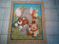 Panel Jungle Baby Quilt by CittysCrochet on Etsy, $45.00