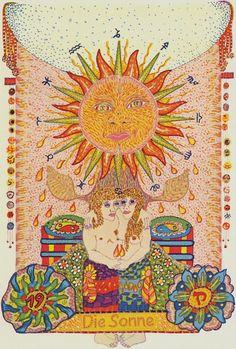 XIX.The Sun: Zigeuner Tarot by Walter Wegmüller, Basel