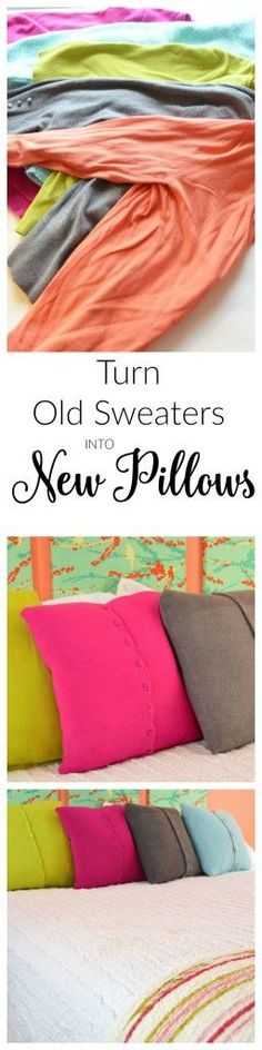 How to Make Old Sweaters into New Pillows