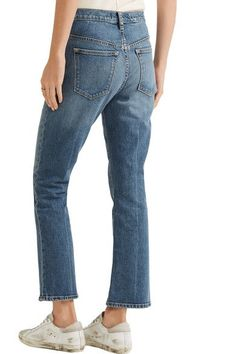 Elizabeth and James - Nerd Cropped Mid-rise Flared Jeans - Mid denim - 26
