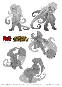 ArtStation - Part of my work on the character Illaoi to League of Legends, Alexandr (LittleDruid) Pechenkin