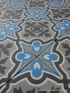 Small antique Boucquey and Winckelmans ceramic floor c.1930 - The Antique Floor Company