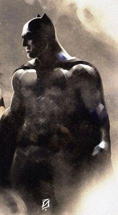 Fan art of Batfleck