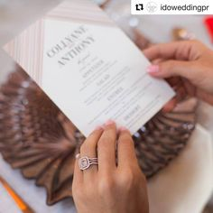Our pink diamond ring looks so pretty! #Repost @idoweddingpr ・・・ That's a rare pink diamond ring by @yaeldesigns paired with @weddingpaperdivas invitation, @napavalleylinens and copper table setting by @blueprintstudiosevents. 📷 @augiechang | design by @amazaeevents #wedtech #pinkdiamond #diamondring