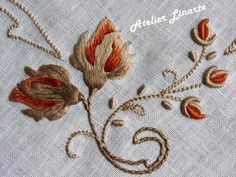 Marvelous Crewel Embroidery Long Short Soft Shading In Colors Ideas. Enchanting Crewel Embroidery Long Short Soft Shading In Colors Ideas. Crewel Embroidery Kits, Rose Embroidery, Learn Embroidery, Embroidery Thread, Embroidery Patterns, Embroidery Supplies, Brazilian Embroidery, Fabric Decor, Needlework