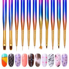 Perfect for nail art paint and drawing. Very delicate nail art paint brush. Nail Art Pen, Nail Art Brushes, Nail Art Tools, Nail Art Hacks, Easy Nail Art, Cool Nail Art, Best Nail Art Designs, Simple Nail Designs, Nail Manicure