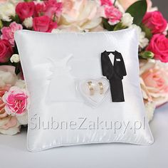 PODUSZKA na obrączki Pani i Pan  #slub #wesele #sklepslubny #dekoracje #slubnezakupy Throw Pillows, Toss Pillows, Cushions, Decorative Pillows, Decor Pillows, Scatter Cushions