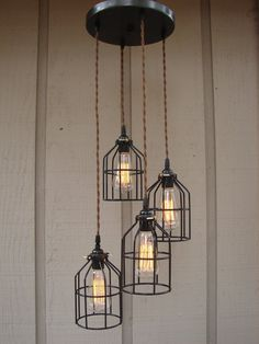 As much as I love sparkly chandeliers, I still find industrial fixtures so awesome.