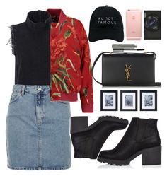 """Untitled #1939"" by anarita11 ❤ liked on Polyvore featuring Dolce&Gabbana, Rachel Comey, Topshop, River Island, Nasaseasons, Sony, Yves Saint Laurent, MAC Cosmetics and Mikasa"