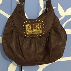 Brown Apple bottoms purse I love this purse used it a few times has a little bit of wear. Also the inside pocket with zipper has a little tear see picture for details. Apple Bottoms Bags Shoulder Bags