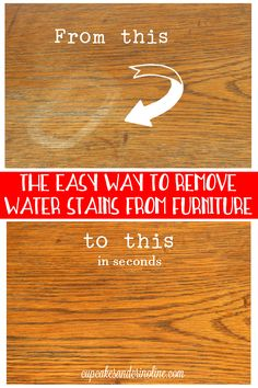 Before And After Comparison How To Remove A Water Stain From Wood