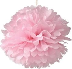 Pink 20 Inch Tissue Paper Flower Pom-Pom