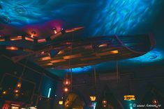 The Abyss Pub (Italy) « Interiors - Design interior Cluj Underwater House, Underwater Theme, Underwater World, Steampunk Bar, Spark Light, Undersea World, Marine Environment, Industrial, Lost Soul